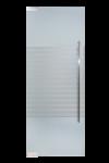 Glazen deur met pomp