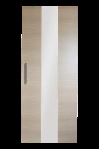 Eik horizontaal blokdeuren met strook glas van 25 cm