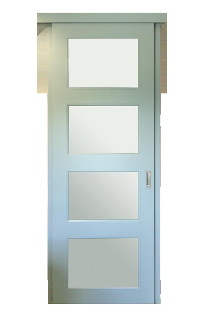 Gelakte schuifdeur met glasopening dg23 trendy deuren - Schuifdeur deur ...