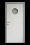Gelakte deur met marine glasopening + met motief DG18