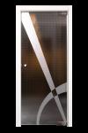 Glazen deur met losse draaispil