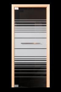 Glazen deur met pivot systeem