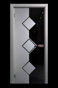 Glazen deur met clarit scharnieren